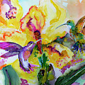 Hummingbird Song Watercolor by Ginette Callaway
