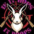 Hunting If It Hops It Drops Funny Rabbit Hunter Gift Idea by Festivalshirt