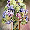 Hydrangea Still Life by David Lloyd Glover