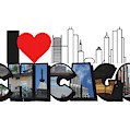 I Heart Chicago Big Letter by Colleen Cornelius