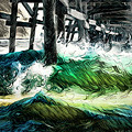I Like That Wave Too by Scott Campbell