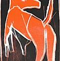 I Was Born In A Mine Orange Dog 33 by Edgeworth DotBlog