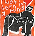 I Was Born In A Mine Woodcut 55 by Edgeworth DotBlog