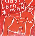 I Was Born In A Mine Woodcut 56 by Edgeworth DotBlog