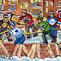 Ice Rinks Winter Scenes Hockey Teams Bruins Sens Flames Leafs Habs Oilers C Spandau Hockey Artist    by Carole Spandau