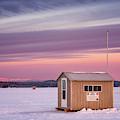 Ice Shacks On Long Lake by Darylann Leonard Photography