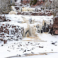 Icy Gooseberry Falls by Susan Rissi Tregoning