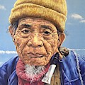 Ifugao Tribesman In Oil Painting by Christopher Shellhammer
