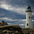 Illuminating Scituate Lighthouse by Jeff Folger