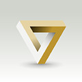 Impossible Looped Triangle  Vector Logo by I3alda