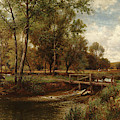 In The Meadows, Youngsbury, 1900 by Alfred Augustus Glendening