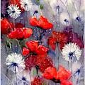 In The Night Garden - Sleeping Poppies by Suzann Sines
