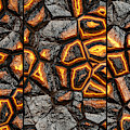 Incredible Stone Wall Triptych by Don Northup