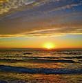 Incredible Sunrise Over The Atlantic Ocean by Lynn Bauer