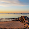 Independence Park Beverly Ma Morning Light Breakwater by Toby McGuire