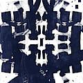 Indigo Abstract 2- Art By Linda Woods by Linda Woods