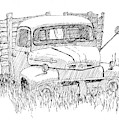 Inktober 2018 No 2 Abandoned Ford Truck by David King
