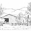Inktober 2018 No 5 Rural Landscape by David King