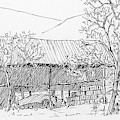 Inktober 2018 No 7 Rural Landscape by David King