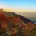 Inspiration Point Sunset - Ozark Mountain Autumn Overlook by Gregory Ballos