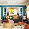 Interior Design, Blue Living Room by Kasey Jones