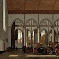 Interior Of The Oude Kerk  Amsterdam  by Emmanuel de Witte