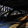 Interior Trusses In A Covered Bridge by Wayne King