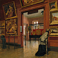 Interior View Of The Metropolitan Museum Of Art When In Fourteenth Street  by Frank Waller