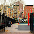 Into Columbus Park New York City by John Rizzuto