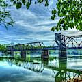 Ironman Spring Reflections 6th Street Trestle Bridge Augusta Georgia Art by Reid Callaway