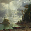 Island In The Lake by Albert Bierstadt