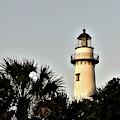 Island Lighthouse At Sunset by Kathy K McClellan