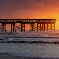 Isle Of Palms Pier Fusion Of Light by Donnie Whitaker