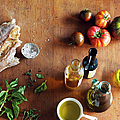 Italian Cooking Ingredients On A by Maren Caruso