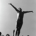 Italian Man Showing Off At A Swimming by Paul Schutzer