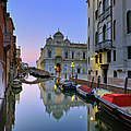 Italy, Venice, Rio Canal And San Marco by Slow Images