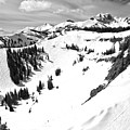 Jackson Hole Mogul Chutes Black And White by Adam Jewell