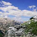 Jagged Mountain And Deep Valley Of The Monte Piana  by Steve Estvanik