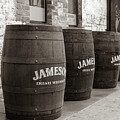 Jameson Barrels In Sepia by Georgia Fowler