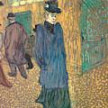 Jane Avril Leaving The Moulin Rouge, 1892 by Henri de Toulouse-Lautrec