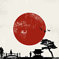 Japan Scenery Poster, Vector by Seita