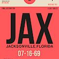 Jax Jacksonville Luggage Tag I by Naxart Studio