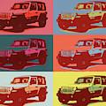Jeep Wrangler Pop Art by Dan Sproul
