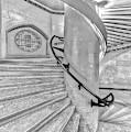 Jefferson Market Spiral Stairs Nypl Bw by Susan Candelario