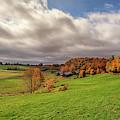 Jenne Farm Autumn Panorama by Kristen Wilkinson