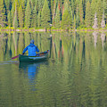 Jenny Lake Canoe by Matthew Irvin
