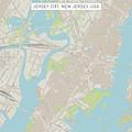 Jersey City New Jersey Us City Street Map by Frank Ramspott