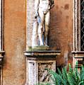 Jewish Ghetto Courtyard Statue In Rome by John Rizzuto