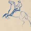 Jockey On Horseback by Edgar Degas