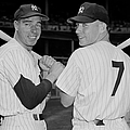 Joe Dimaggio And Mickey Mantle by New York Daily News Archive